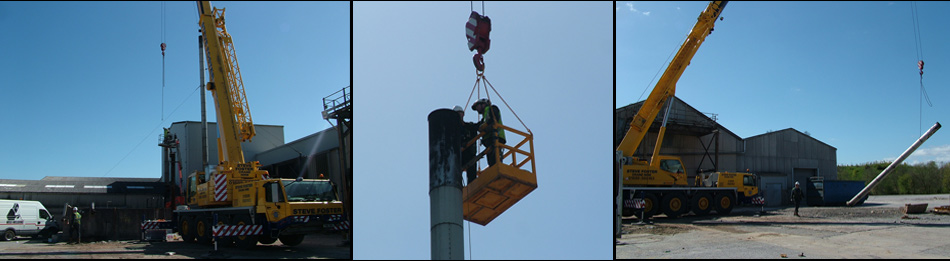 The Chimneys are taken down Section by Section