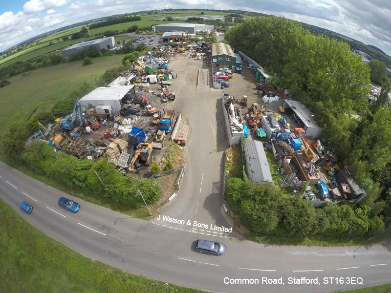 J Watson + Sons Ltd - Common Road Site - Aerial View